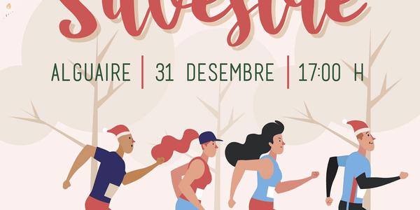Cartell de la 1a Sant Silvestre a Alguaire