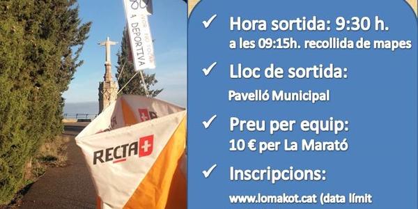 Cartell de la cursa d'orientació per la Marató