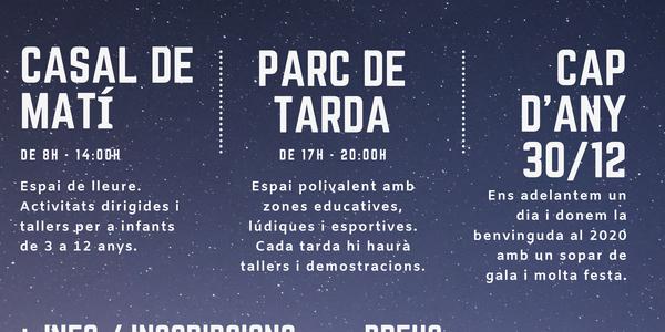 Cartell del Parc de Nadal Alguaire 2019