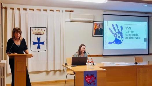 Alguaire commemora el Dia internacional per l'eliminació de la violència envers les dones