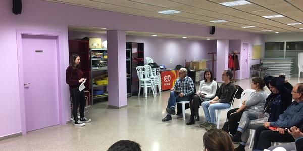 Moment de la presentació del taller de conversa en llengua anglesa