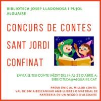 """Concurs de contes """"Sant Jordi confinat"""""""