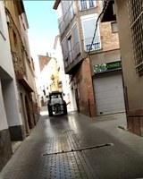Desinfecció dels carrers de la vila