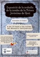 Exposició de la troballa de la tomba de la priora Jerònima de Gort