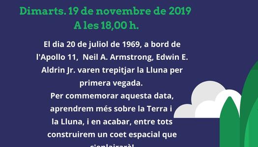 La Biblioteca Josep Lladonosa commemora l'arribada a la Lluna amb un taller del coet Apollo 11