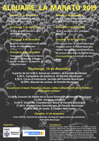 L'Ajuntament d'Alguaire organitza la Marató 2019 junt amb altres entitats de la vila