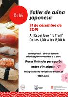 L'Ajuntament d'Alguaire organitza un taller de cuina japonesa i posterior degustació