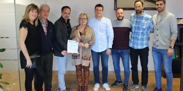 Nou conveni de l'Ajuntament amb l'Escola de futbol Pinyana